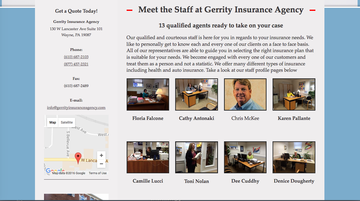 SEO for Gerrity Insurance Agency in Wayne Pa 3