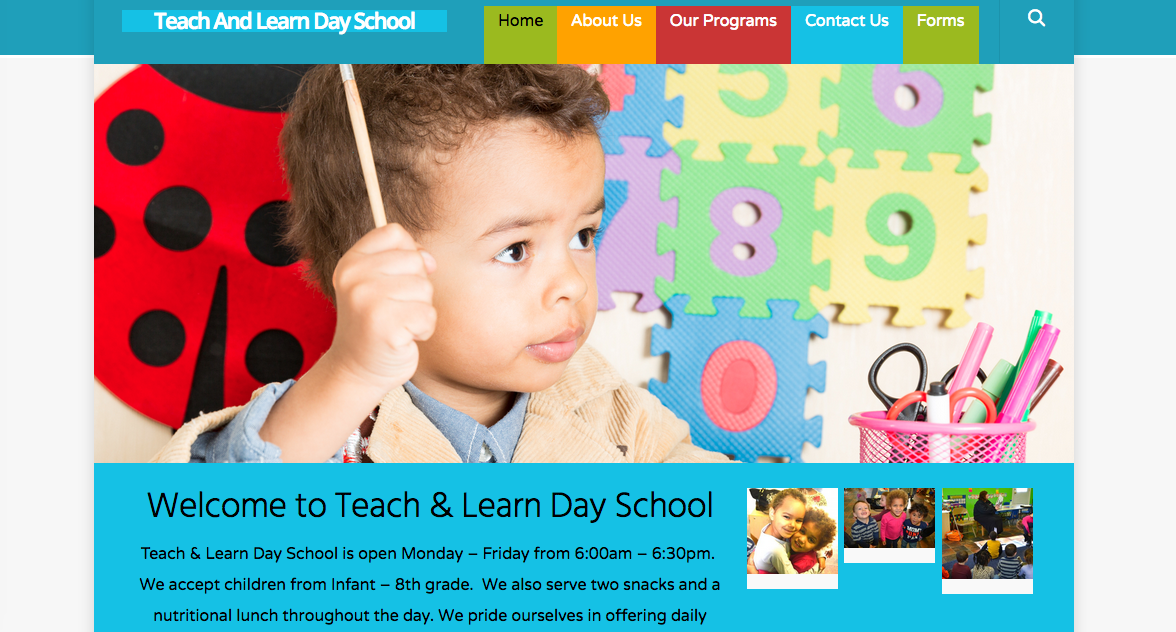 website design for Day Care in Downingtown PA